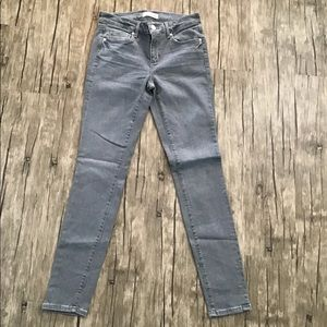Loft Made and Loved Modern Skinny Grey Jeans GUC